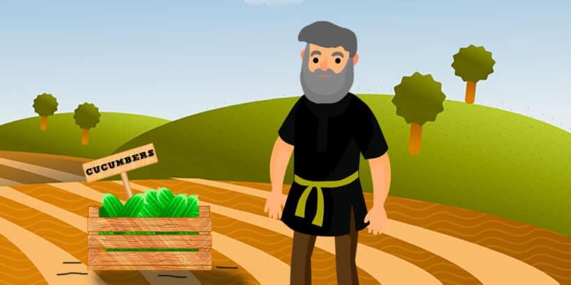 Un cuento para niños y adolescentes: El hombre y los pepinos