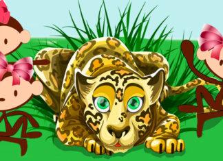 El leopardo y las monas, fábula de Smaniego para niños