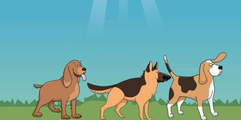 La leyenda de por qué los perros se huelen el trasero