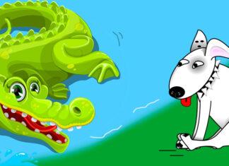 Fábula corta El perro y el cocodrilo