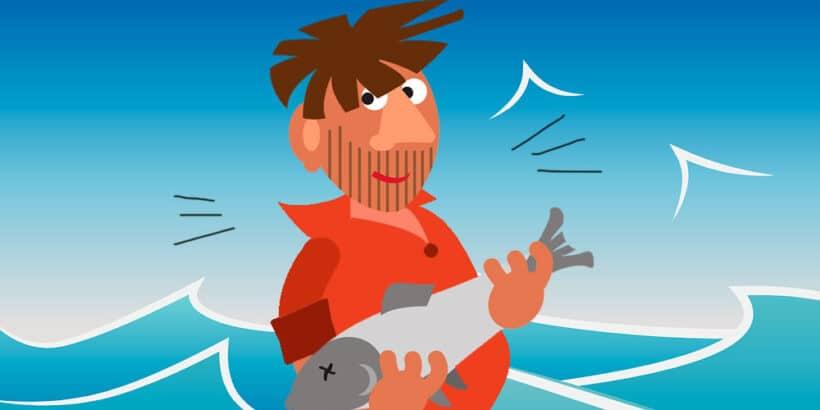 Fábula corta sobre la prudencia: El pescador y el pececillo