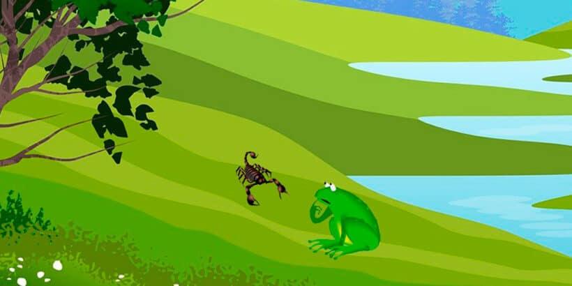 Fábula budista sobre la prudencia: La rana y el escorpión