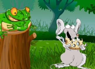 Cuento popular para niños: El sapo y el ratón