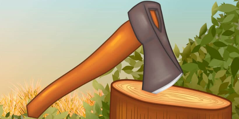 Fábula corta de Samaniego: El hacha y el mango