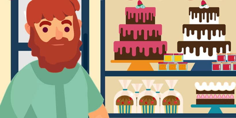 El cuento El campesino y los pasteles