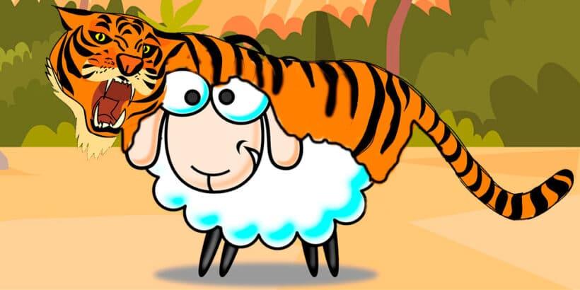 Fábula china sobre las apariencias: El cordero que vistió piel de tigre