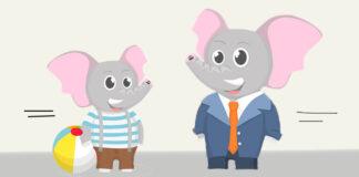 Cuento infantil de Arnold Lobel: El elefante y su hijo