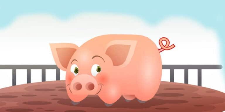 Las colas de cerdo, un cuento popular para niños
