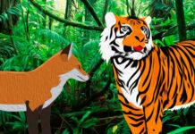 Fábula china sobre la resolución de situaciones de riesgo, El zorro que se aprovechó del poder del tigre