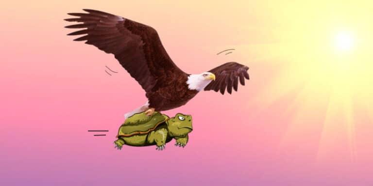 Fábula corta sobre la envidia y la soberbia: El águila y la tortuga