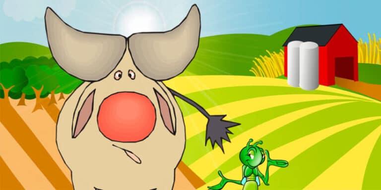 'El buey y la cigarra', una fábula para niños sobre las críticas por envidia