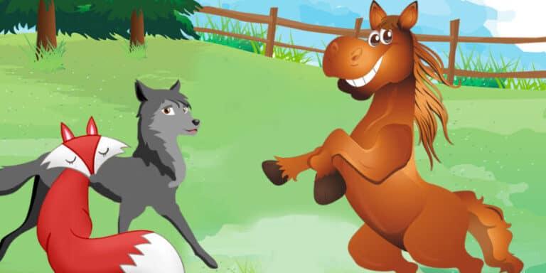 Una fábula sobre la prudencia para niños: La zorra, el lobo y el caballo