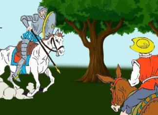El yelmo de Mambrino, Don Quijote de la Mancha para niños