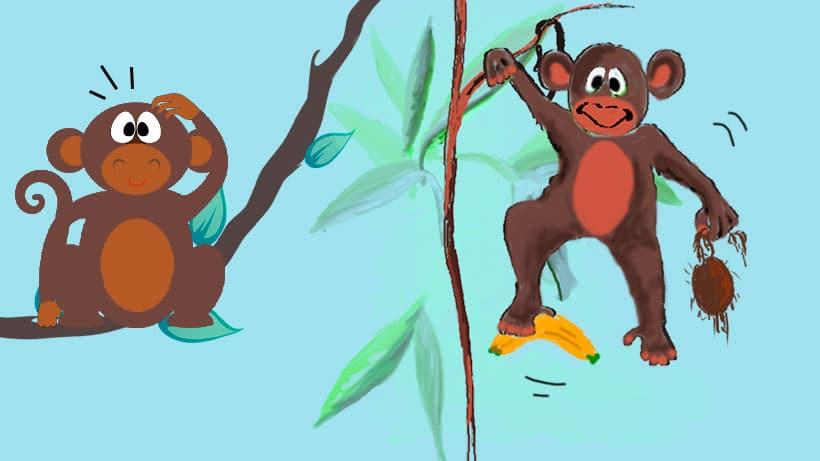 La poesía infantil 'Ahí vienen los monos'