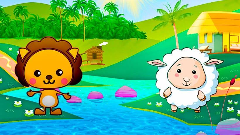 El cuento infantil 'El corderito y el pequeño león'