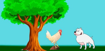 La fábula del perro, el gallo y la zorra