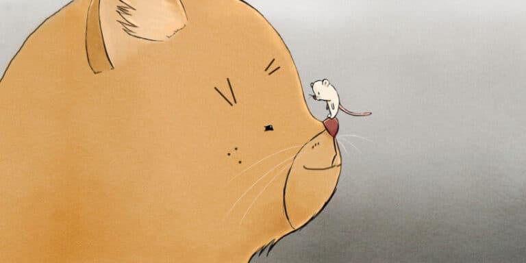 Cuento infantil 'El gato y le ratón hacen vida en común'