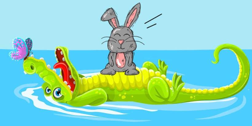 Un cuento infantil sobre la astucia y las mentiras: La liebre y el cocodrilo