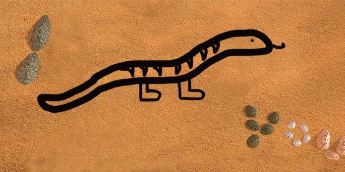 La serpiente con patas, una fábula china