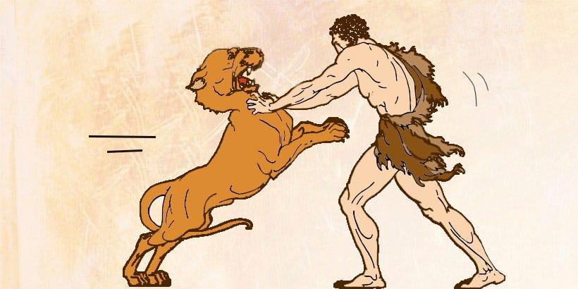 El mito griego de Hércules y el león de Nemea