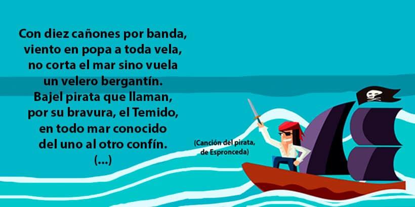 La canción del pirata, de Espronceda