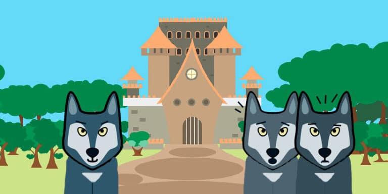 El castillo de ls tres lobos, un cuento para niños de origen francés