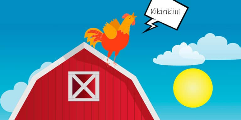 El gallo desoertador, poesía de Gloria Fuertes para niños