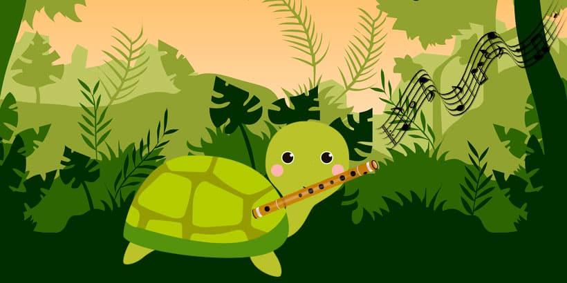 La tortuga y la flauta, un precioso cuento infantil