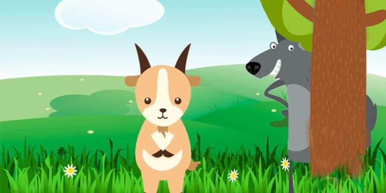 Cuento sobre el ingenio: La cabra y el lobo