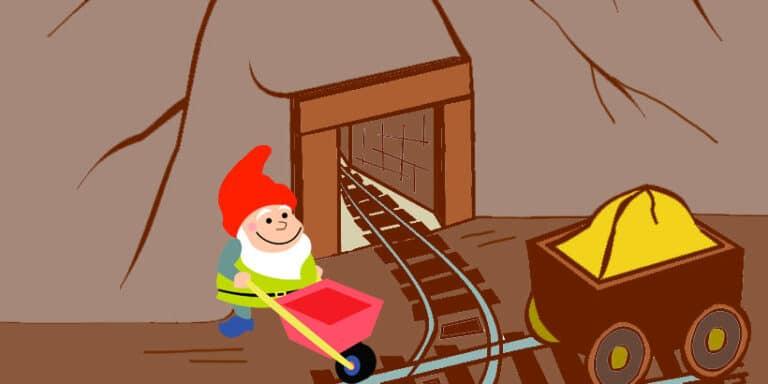 Los gnomos y la mina de oro, un cuento de hadas para niños