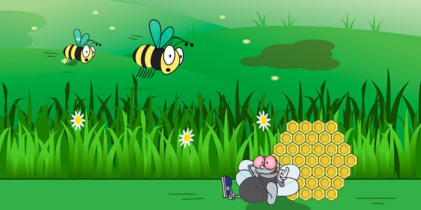 La fábula de Los tábanos y las abejas