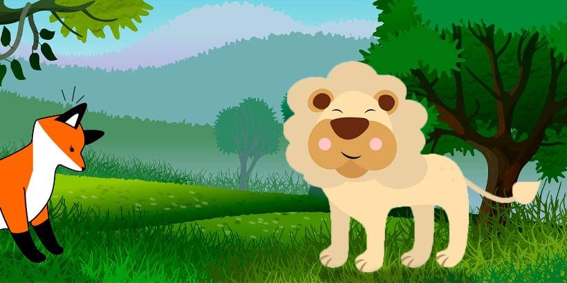 Fábula La zorra que nunca había visto un león